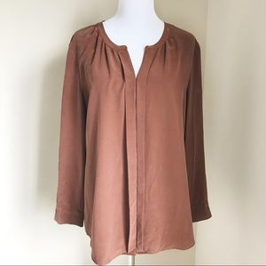 NORDSTROM COLLECTION Silk Long Sleeve Blouse